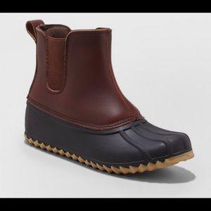 merona patricia slide blue duck boots